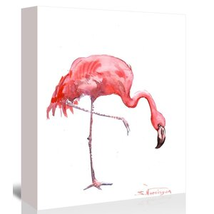 Flamingo by Suren Nersisyan Painting Print on Gallery Wrapped Canvas by Americanflat