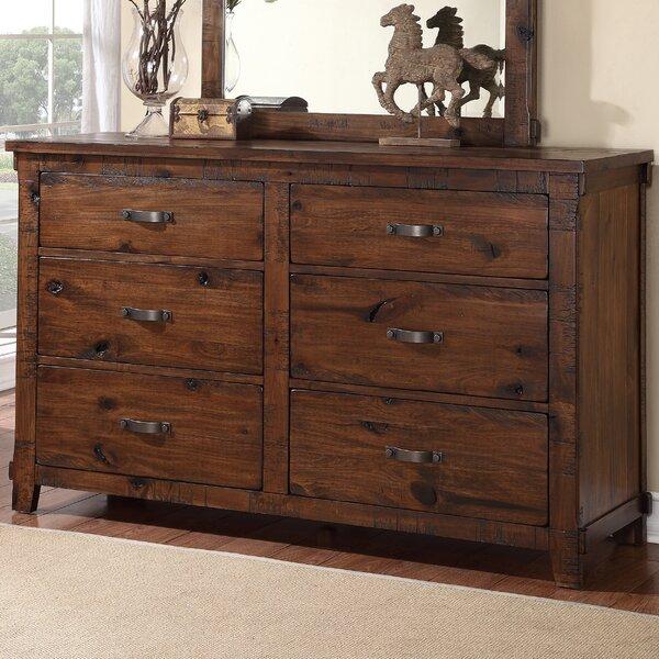 Camas 6 Drawer Double Dresser by Loon Peak