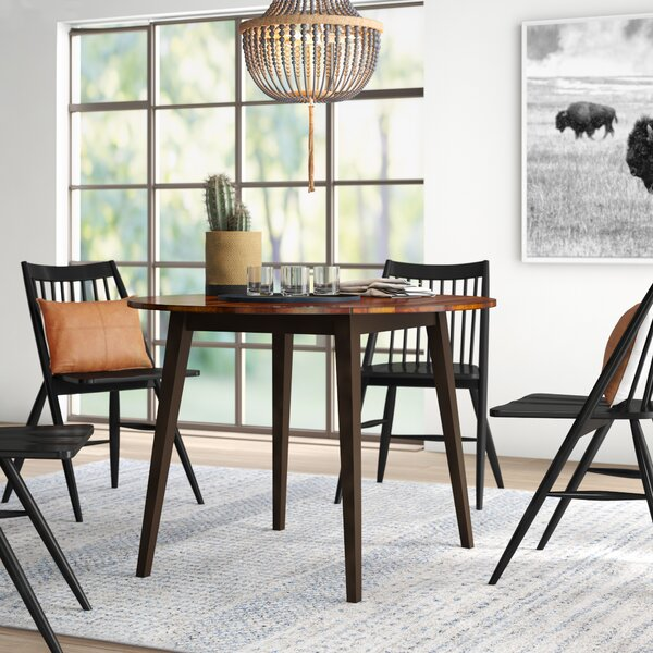 Hidalgo Drop Leaf Solid Wood Dining Table by Millwood Pines