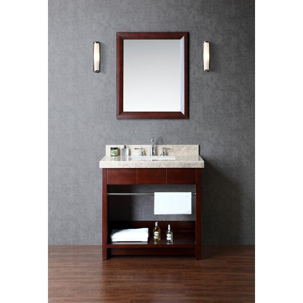 Seabrook 36 Single Bathroom Vanity Set with Mirror by Ariel Bath