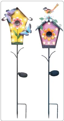 Ximena Solar LED Birdhouse Garden Stake by August Grove
