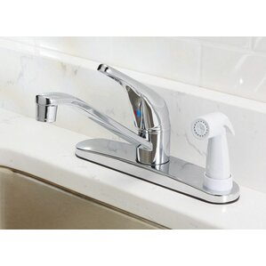Oakbrook Collection Single Handle Deck Mounted Standard Kitchen Faucet with Side Spray