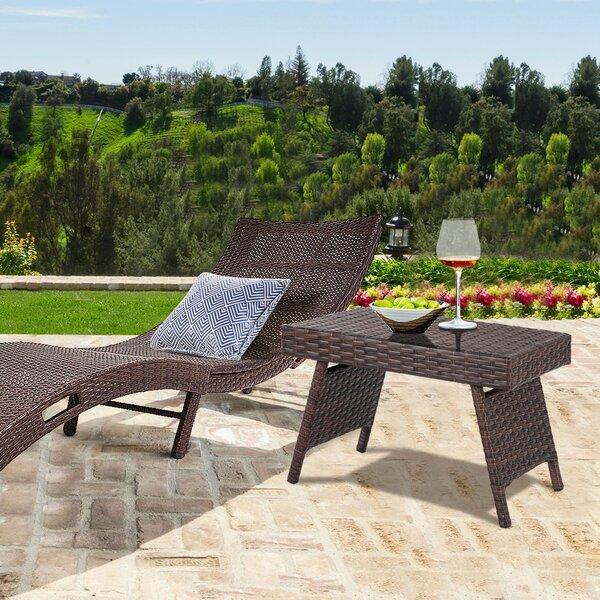 Hielm Folding Rattan Coffee Table by Ebern Designs