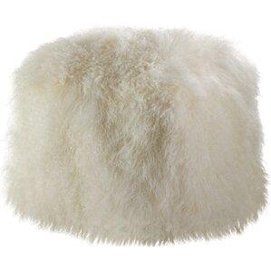 mongolian lamb fur pouf ottoman