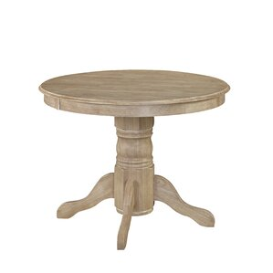 Pedestal Kitchen  Dining Tables Youll Love Wayfair - Wood pedestal dining table