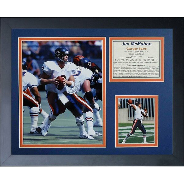 Jim McMahon Framed Memorabilia by Legends Never Die