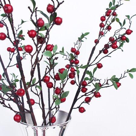 Pomegranate Branch in Decorative Vase by Winston Porter