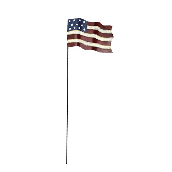 Small American Glory Flag Pick Garden Stake by Attraction Design Home