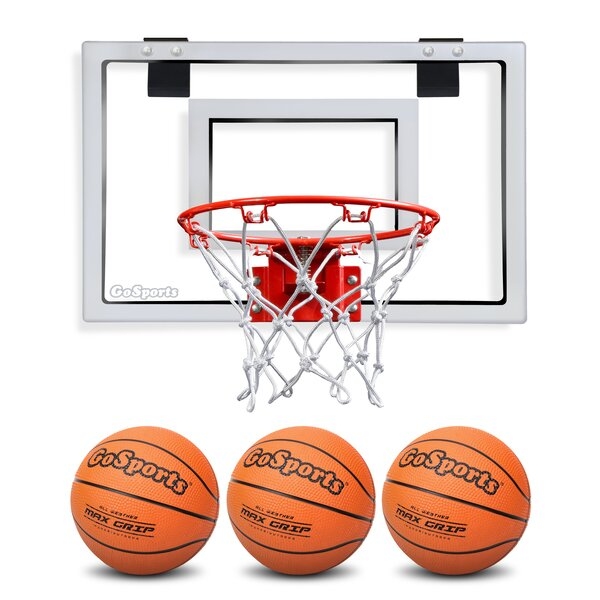 Basketball Door Hoop with 3 Premium Basketball and Pump by GoSports
