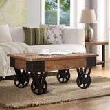 Halliday Wheel Coffee Table by Williston Forge