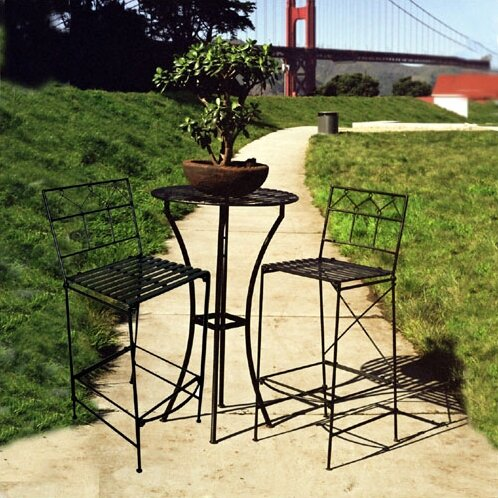 Marc-Antoine 3 Piece Dining Set by 17 Stories