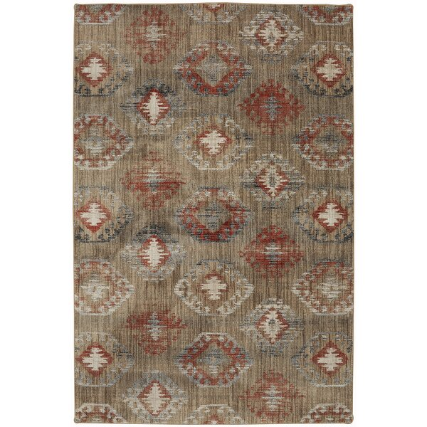 Metropolitan Beige/Red Area Rug by Mohawk Home