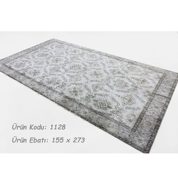 Vintage Hand-Knotted Ivory Area Rug by Wildon Home ®