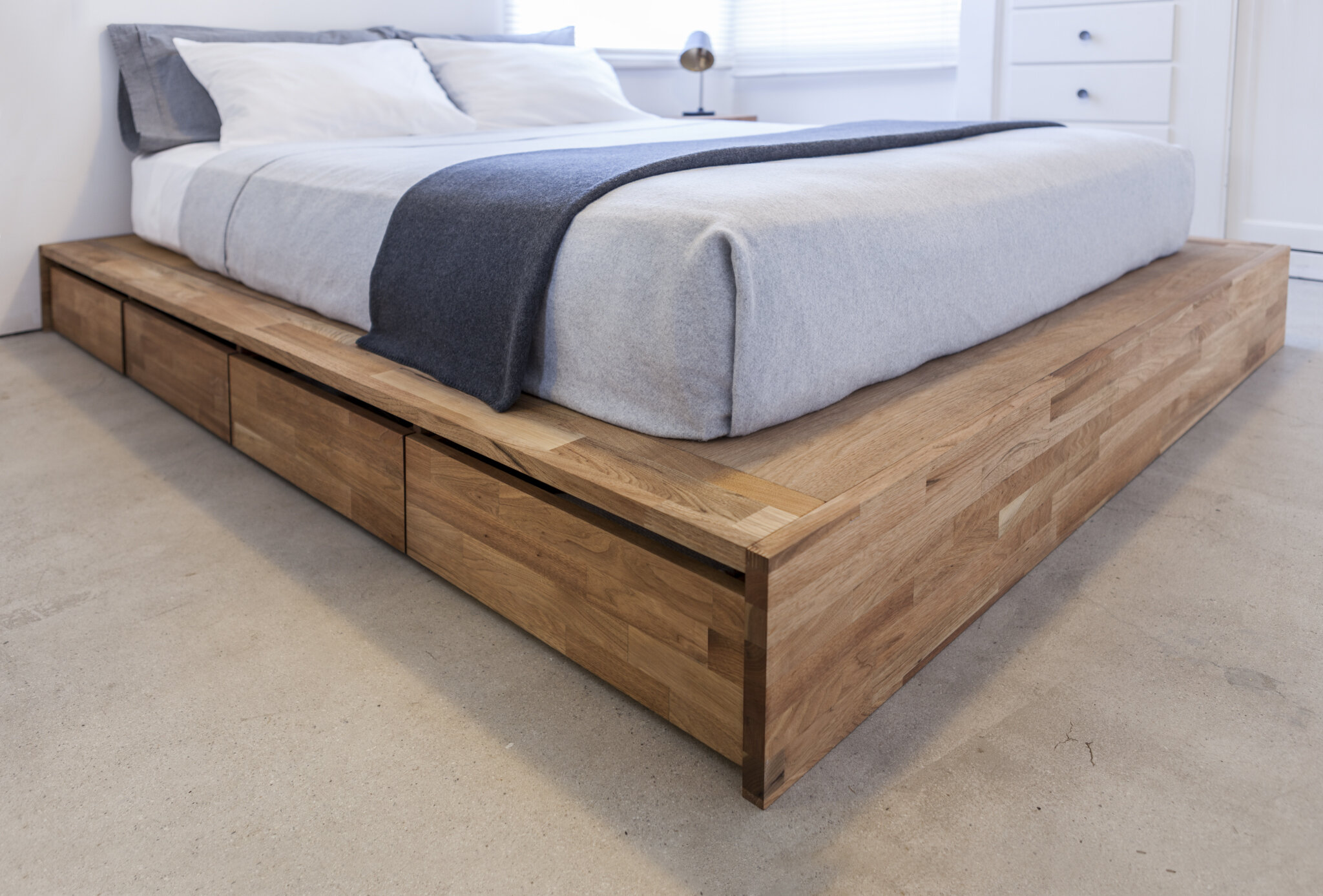 Picture of: King Platform Bed With Storage