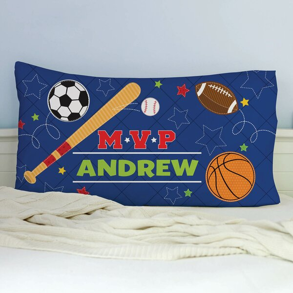 Kirkbride MVP Sports Personalized Pillowcase by Zoomie Kids