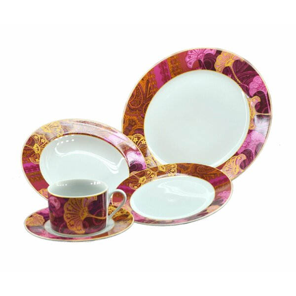 Floral 16 Piece Dinnerware Set, Service for 4 by Three Star Im/Ex Inc.