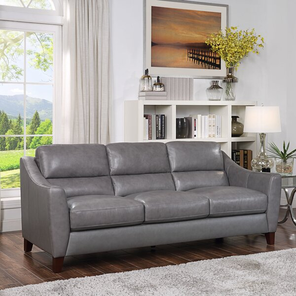 Cheap Preciado Leather Sofa By Red Barrel Studio Today Sale Only ...
