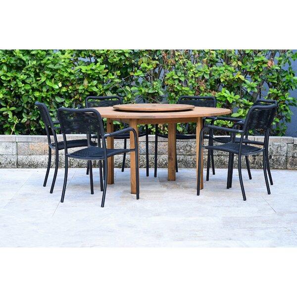 Dimitri 7 Piece Teak Dining Set Bayou Breeze W002826635