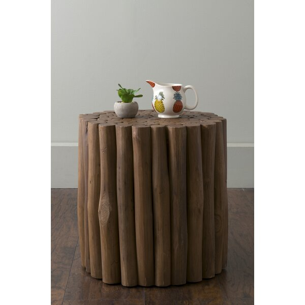 Vitiello Solid Wood Drum End Table By Highland Dunes
