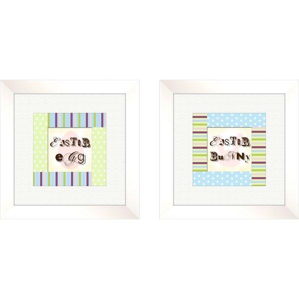 Juvenile 2 Piece Polka Dots Framed Art Set by PTM Images
