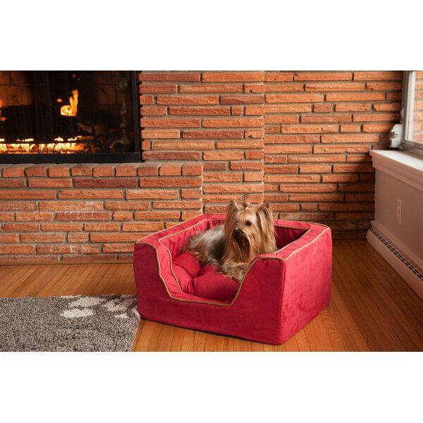 Luxury Square Pet Bed with Memory Foam by Snoozer Pet Products