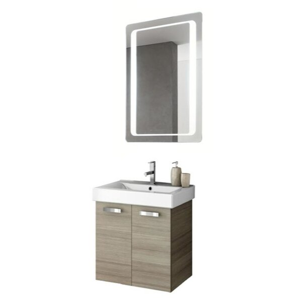 Cubical 24 Single Bathroom Vanity Set with Mirror by ACF Bathroom Vanities