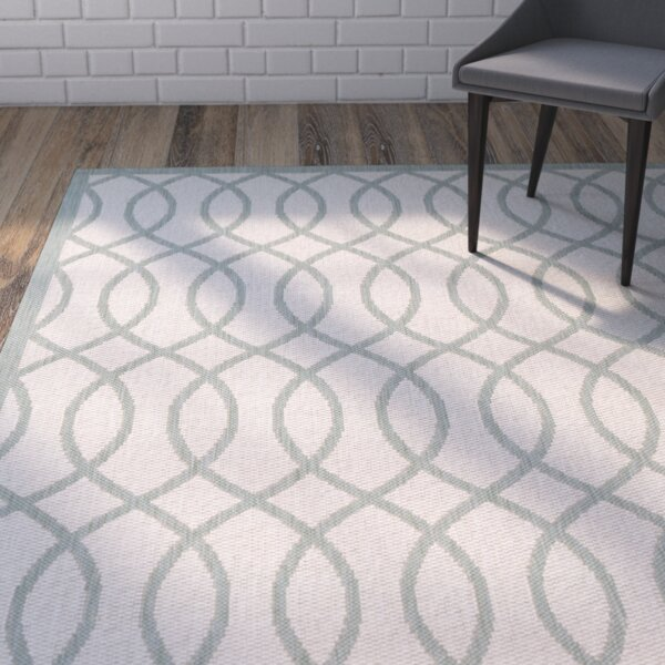 West Town Beige/Gray Indoor/Outdoor Area Rug by Wrought Studio