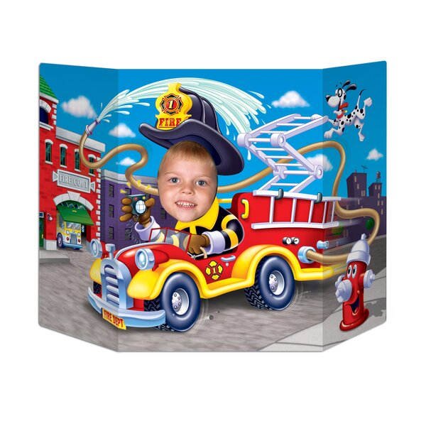 Fire Truck Photo Prop Standup by The Beistle Company