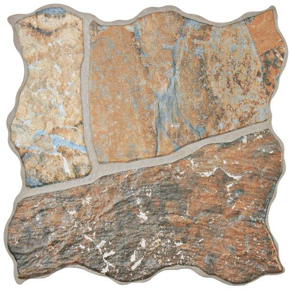 Tundra 12.25 x 12.25 Porcelain Splitface Tile in Brown by EliteTile