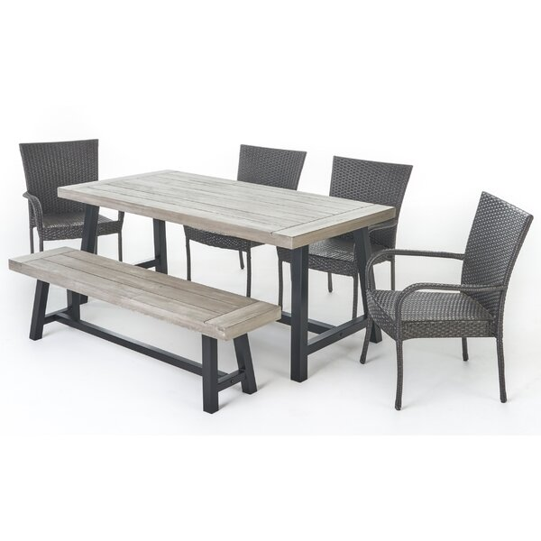 Osborne 6 Piece Dining Set by Gracie Oaks