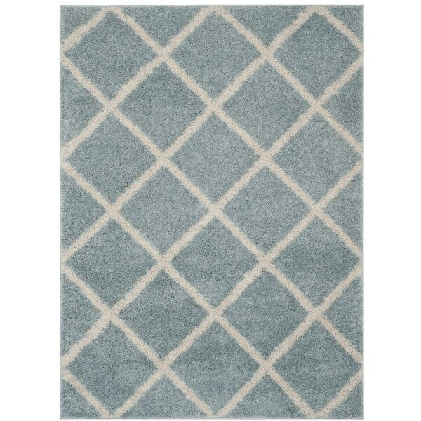 Helsel Blue Area Rug by Wrought Studio