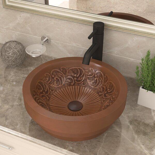 Admiral Metal Circular Vessel Bathroom Sink by ANZZI
