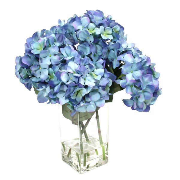 Hydrangeas in Glass by Dalmarko Designs
