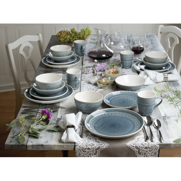 McKenney 20 Piece Dinnerware Set, Service for 4 by Mistana