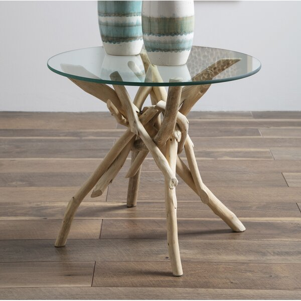 Jered Driftwood End Table By Rosecliff Heights