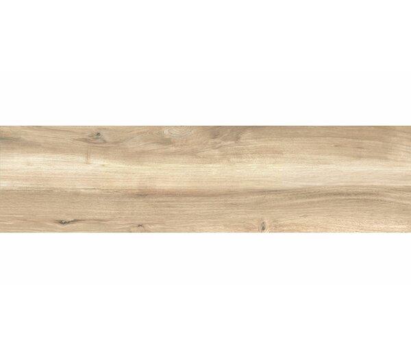 Deck 8 x 48 Porcelain Wood Look/Field Tile in Beige by Tesoro