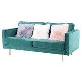 Durbin Velvet 70.5 Square Arm Sofa by Everly Quinn