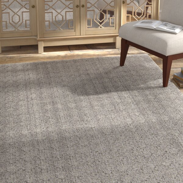 Tenleytown Hand-Woven Gray Area Rug By Bungalow Rose.