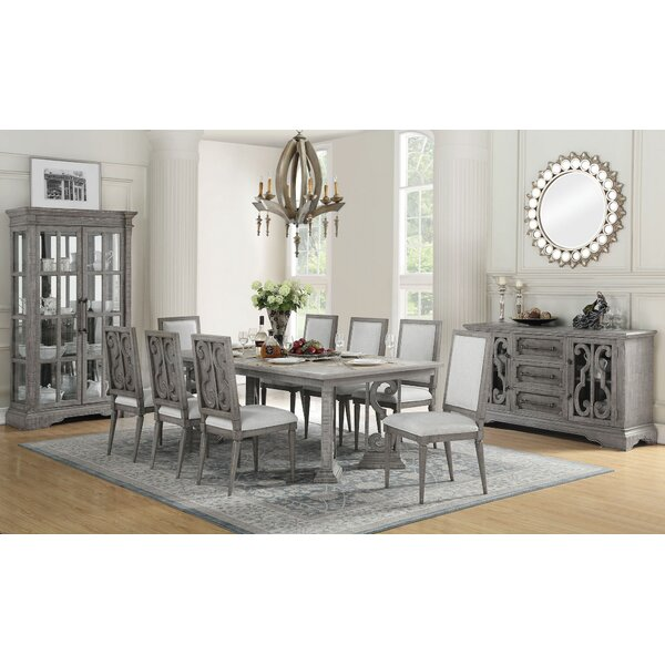 Jackeline 9 Pieces Extendable Dining Set by Ophelia & Co.