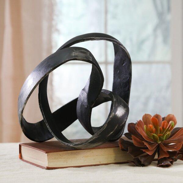 Knotted Element Table Sculpture Dark Bronze