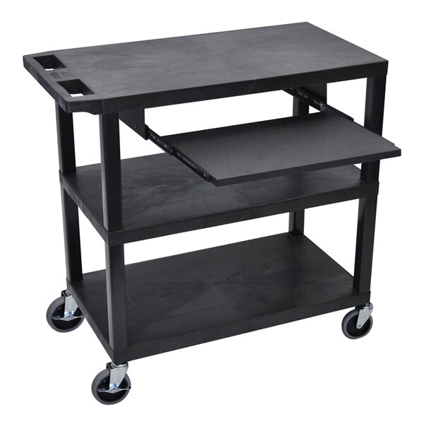 4 Flat Shelf AV Cart by Offex