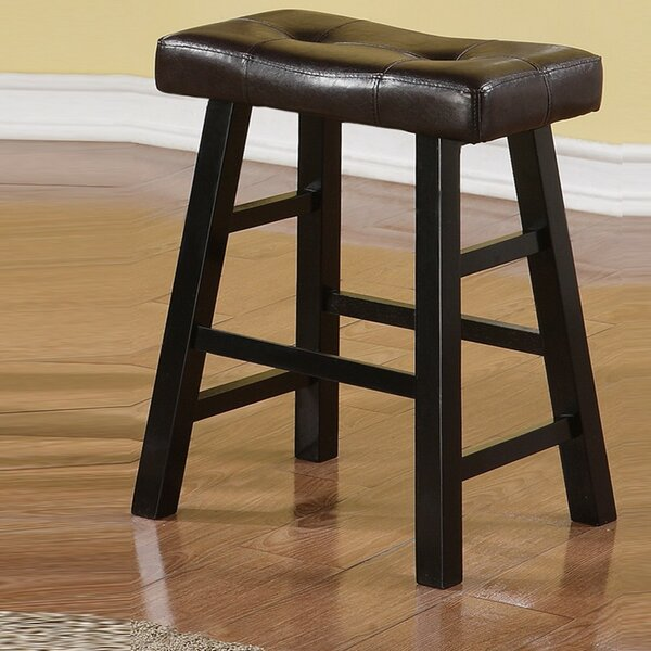 Rowell Rubber Wood Bar Stool (Set of 2) by Charlton Home