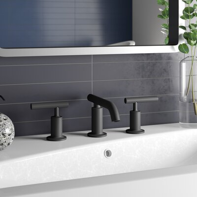 Two Handle Deck Mount Tub Faucet Shower Head