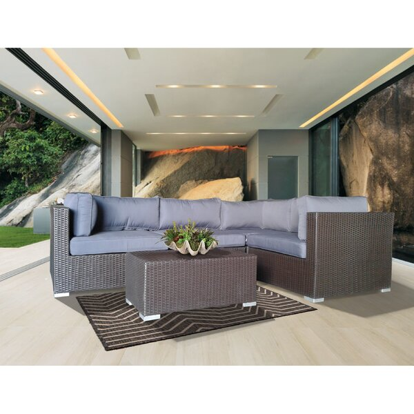 Hopson 5 Piece Sectional Set with Cushions by Brayden Studio