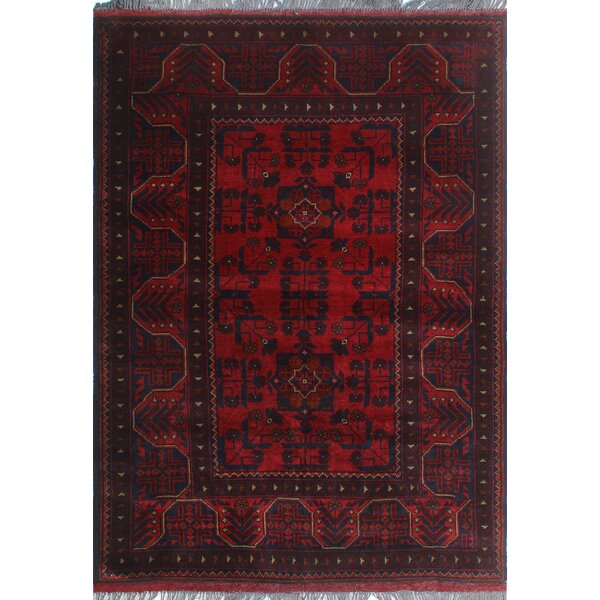 One-of-a-Kind Millar Bejide Hand-Knotted Wool Red Are Rug by Bloomsbury Market