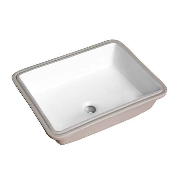 Dahlia Series Vitreous China Rectangular Undermount Bathroom Sink with Overflow by ANZZI