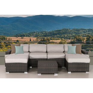 Archway 7 Piece Sectional Set with Cushions By Bayou Breeze
