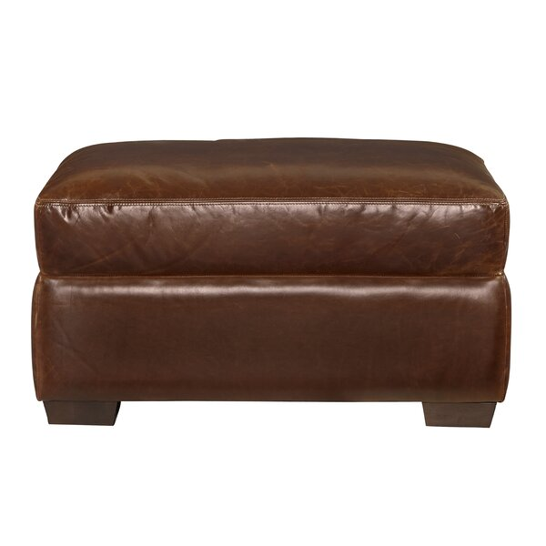 Dansville Leather Ottoman by Latitude Run