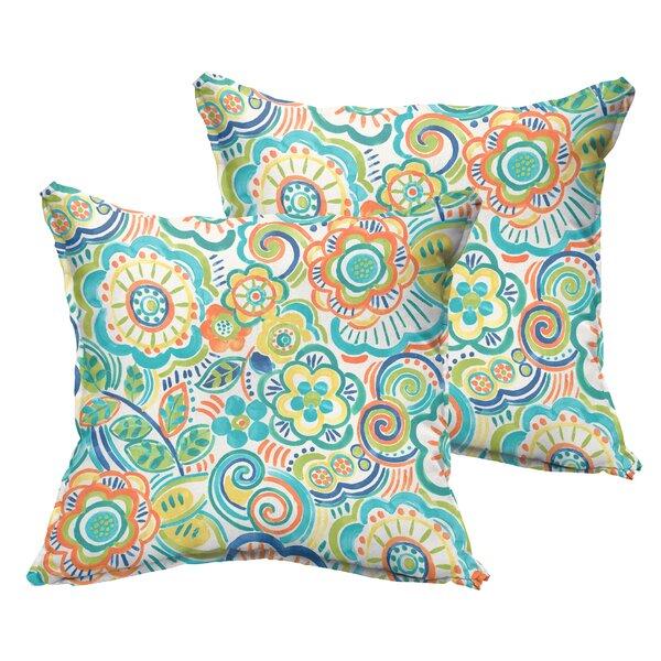 Beatrice Indoor/Outdoor Throw Pillow (Set of 2) by Latitude Run