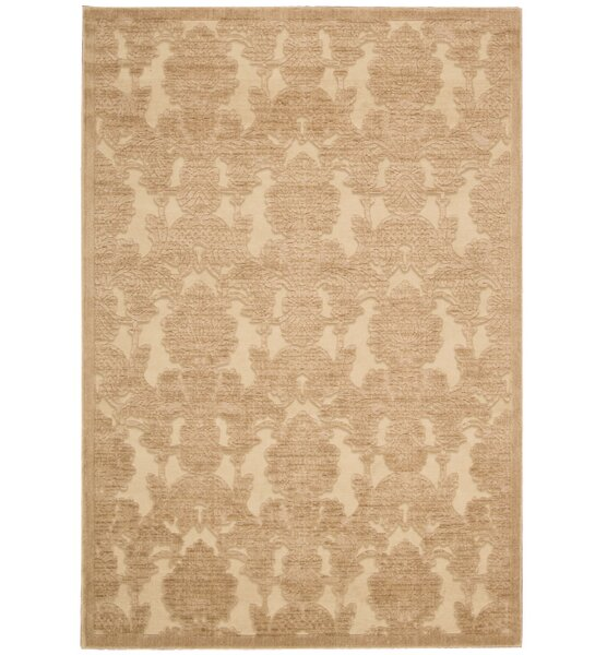 Riffe Light Gold Area Rug by Alcott Hill